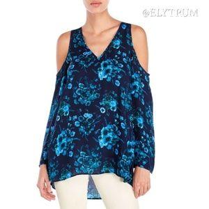 Philosophy floral cold shoulder tunic top
